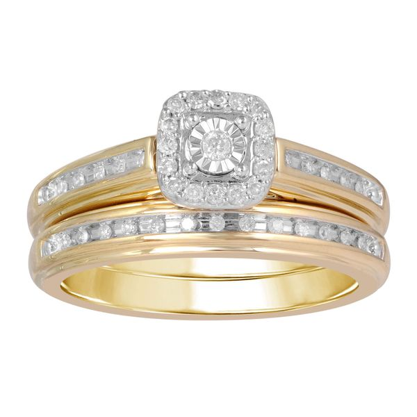 10k Yellow Gold 0.20ctw Diamond Wedding Set Robert Irwin Jewelers Memphis, TN
