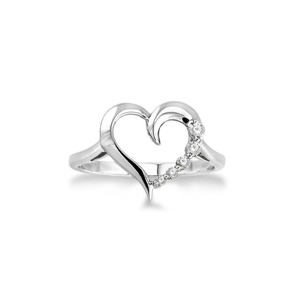 Sterling Silver 0.03ctw Diamond Heart Fashion Ring Robert Irwin Jewelers Memphis, TN