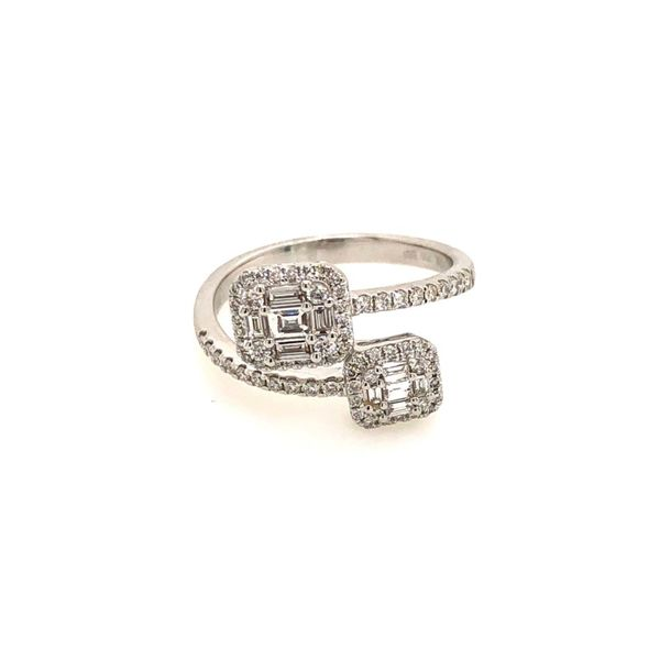 18k White Gold 0.53ctw Bypass Diamond Ring Robert Irwin Jewelers Memphis, TN