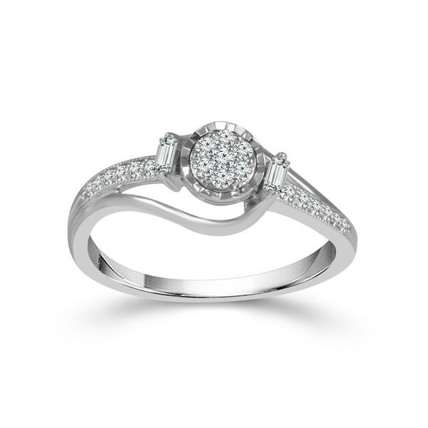 1/5 Carat True Promise Ring in 10 Karat White Gold Robert Irwin Jewelers Memphis, TN
