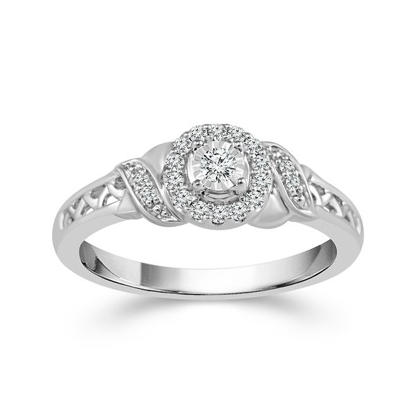 Sterling Silver 0.17ctw Diamond Promise Ring Robert Irwin Jewelers Memphis, TN