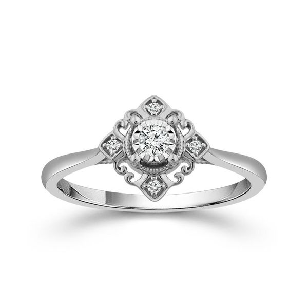 10k White 0.13ctw Diamond Promise Ring Robert Irwin Jewelers Memphis, TN