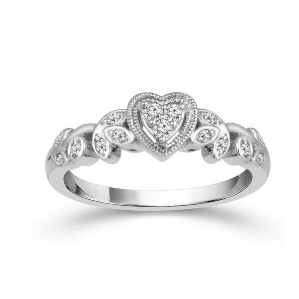 1/8 Carat Diamond Heart Promise Ring Robert Irwin Jewelers Memphis, TN