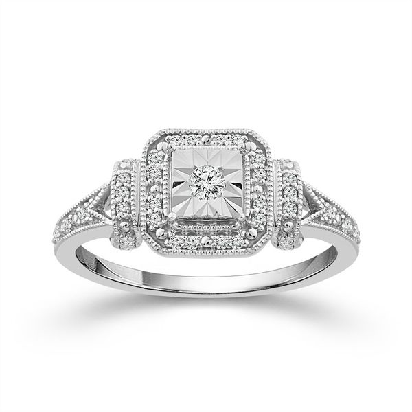 Sterling Silver 1/5ctw Diamond Promise Ring Robert Irwin Jewelers Memphis, TN