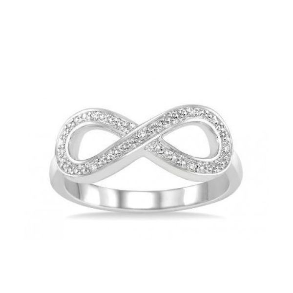 Sterling Silver 1/50ctw Diamond Infinity Fashion Ring Robert Irwin Jewelers Memphis, TN