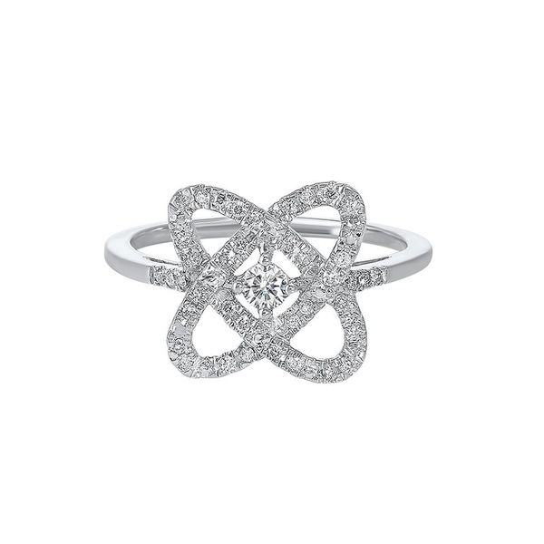 Sterling Silver 1/4 Carat Love's Crossing Diamond Ring Robert Irwin Jewelers Memphis, TN