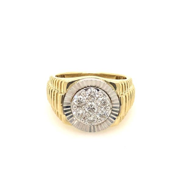 10k Yellow Gold 1.00ctw Diamond Gents Ring Robert Irwin Jewelers Memphis, TN