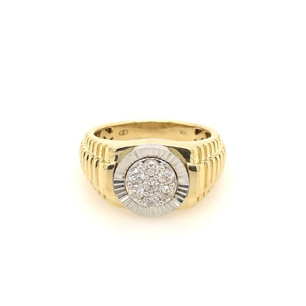10k Yellow Gold 0.50ctw Diamond Gents Ring Robert Irwin Jewelers Memphis, TN