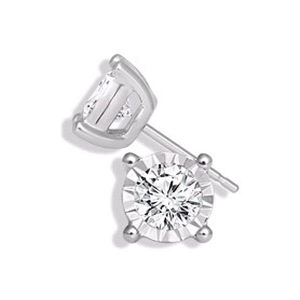 Sterling Silver 0.20ctw Endless Sparkle Miracle Diamond Studs Robert Irwin Jewelers Memphis, TN