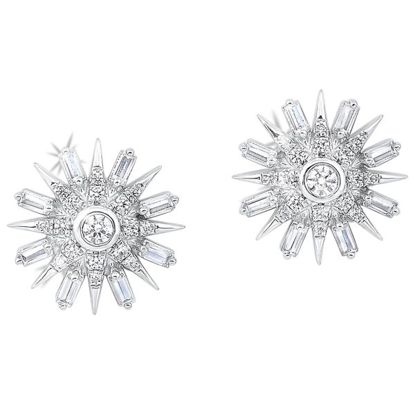14k White Gold 1/2ctw Diamond Earrings Robert Irwin Jewelers Memphis, TN