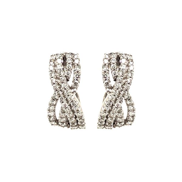 14k White Gold 1.00ctw Diamond Earrings Robert Irwin Jewelers Memphis, TN