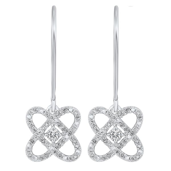 Sterling Silver 1/4ctw Diamond Love's Crossing Earrings Robert Irwin Jewelers Memphis, TN