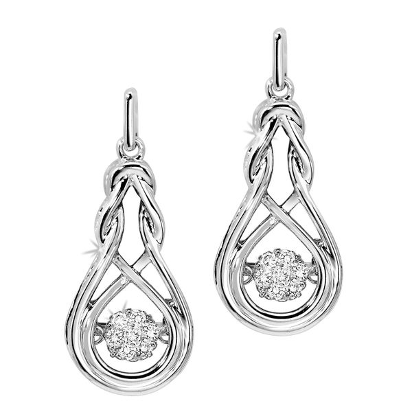Sterling Silver 0.14ctw Rock N' Diamond Earrings Robert Irwin Jewelers Memphis, TN