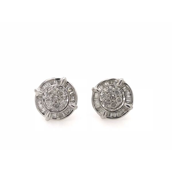 Sterling Silver 0.50ctw Diamond Fashion Earrings Robert Irwin Jewelers Memphis, TN