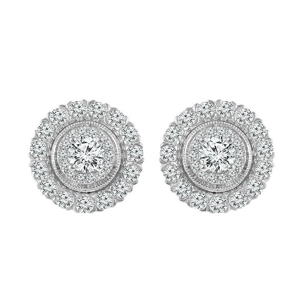 1 Carat Halo Fashion Earrings Robert Irwin Jewelers Memphis, TN