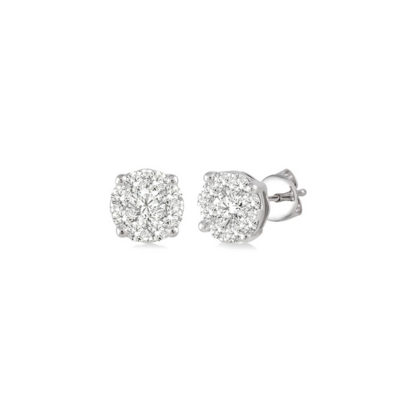 14 Karat White Gold 1/4 Carat Lovebright Diamond Earrings Robert Irwin Jewelers Memphis, TN