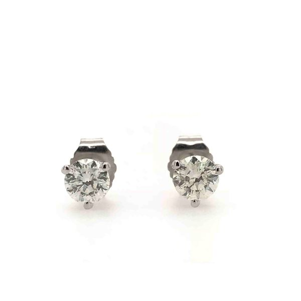 14k White Gold 0.50ctw RIJ89 Round Diamond Stud Earrings Robert Irwin Jewelers Memphis, TN