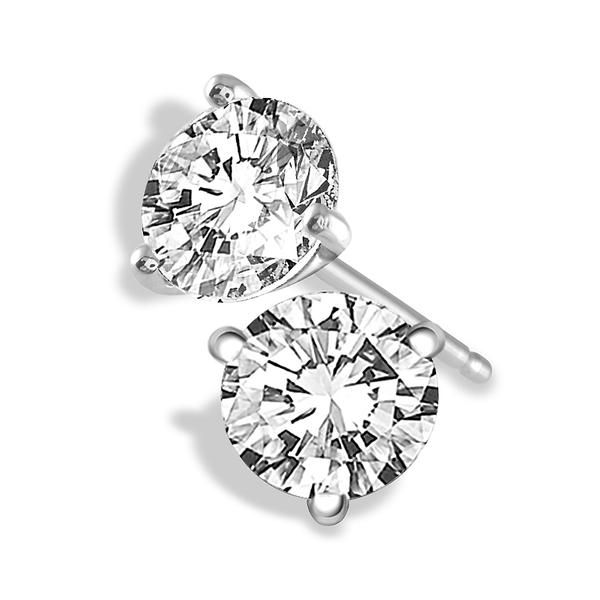 14k White Gold 0.45ctw Round Diamond Martini Set Studs Robert Irwin Jewelers Memphis, TN
