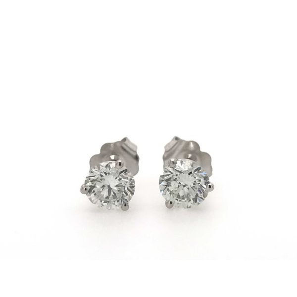14k White Gold 1.25ctw Lab Grown Diamond Stud Earrings Robert Irwin Jewelers Memphis, TN