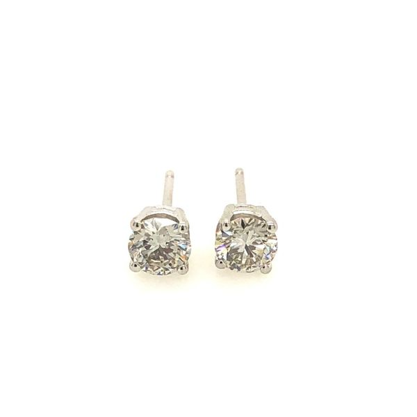 14k White Gold 0.81ctw Lab Grown Diamond Studs Robert Irwin Jewelers Memphis, TN
