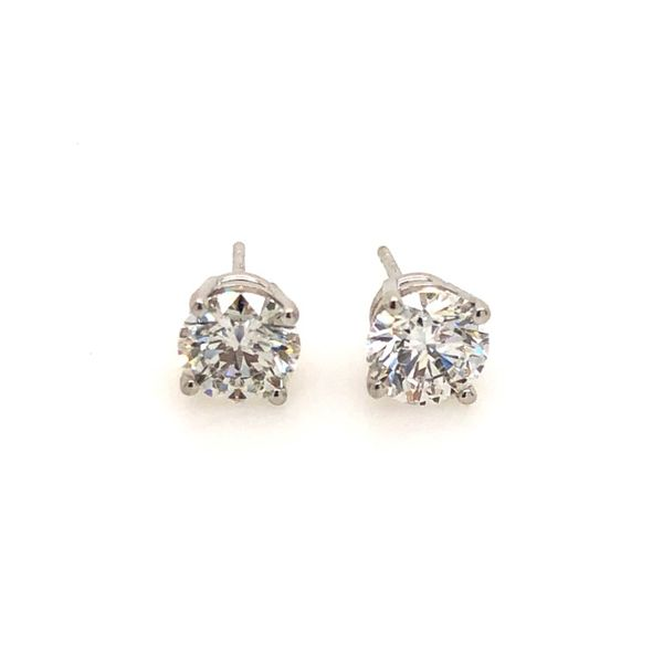 14k White Gold 2.12ctw Round Lab Grown Diamond Studs Robert Irwin Jewelers Memphis, TN