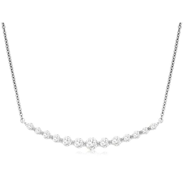 14k White Gold 0.31ctw Diamond Pendant Robert Irwin Jewelers Memphis, TN