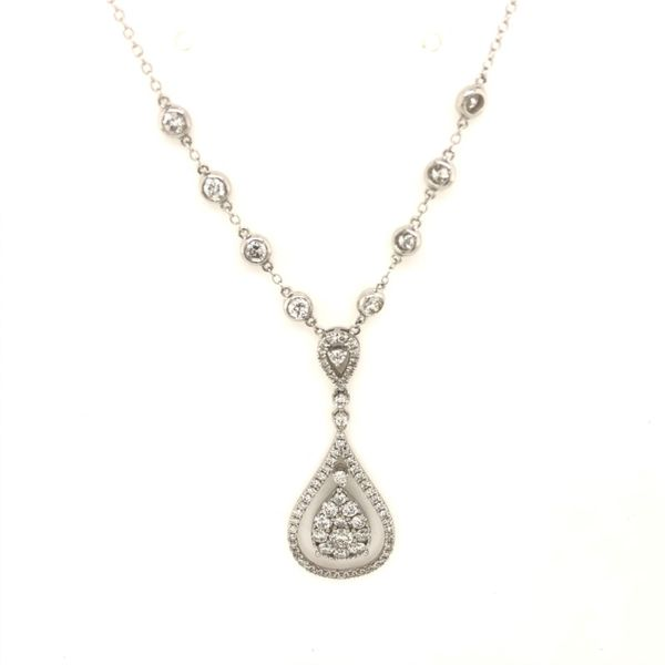 14k White Gold 2.00ctw Diamond Pear Shape Pendant Robert Irwin Jewelers Memphis, TN