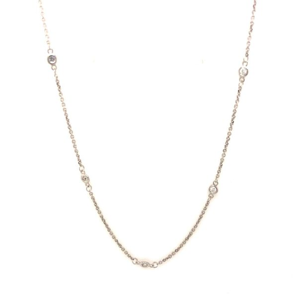 14k White Gold 0.30ctw Diamond By the Yard Necklace Robert Irwin Jewelers Memphis, TN