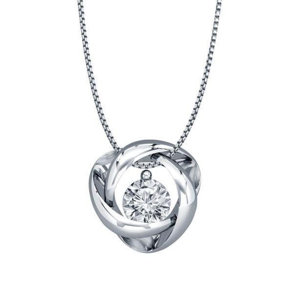 Sterling Silver 0.03ctw Diamond Time and Eternity Pendant Robert Irwin Jewelers Memphis, TN