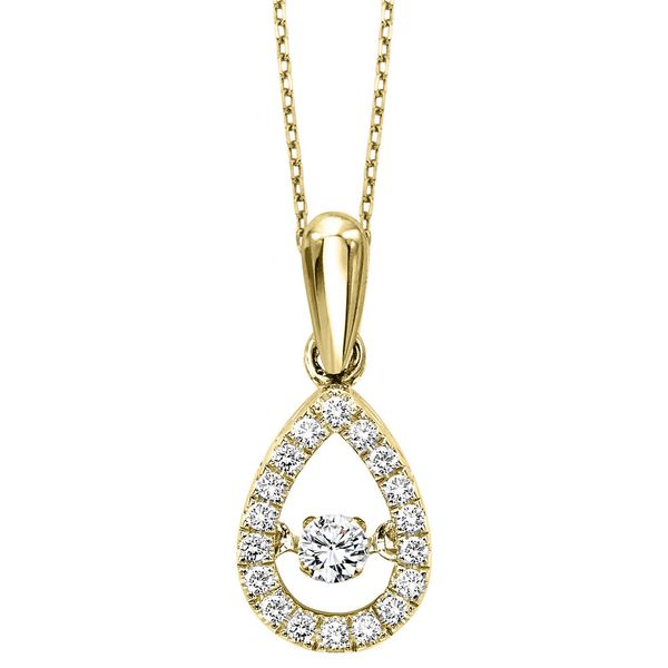 10k Yellow Gold 1/5ctw Diamond Pendant Robert Irwin Jewelers Memphis, TN