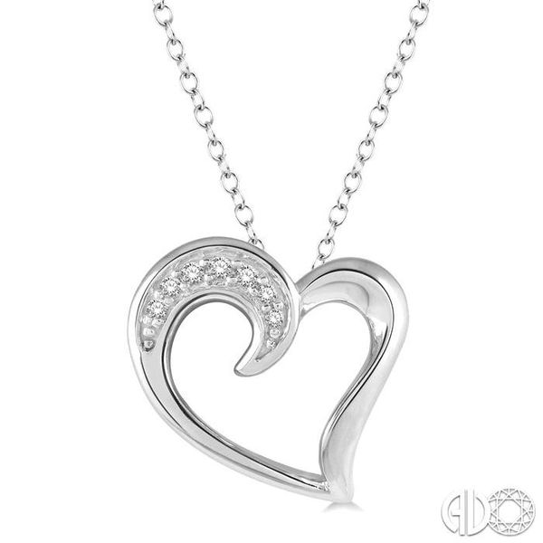 Sterling Silver 0.03ctw Diamond Heart Pendant Robert Irwin Jewelers Memphis, TN