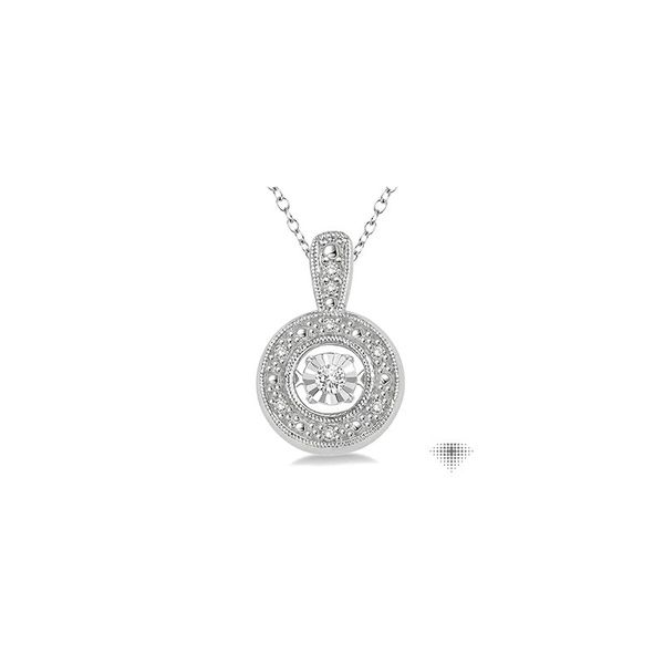 1/10 Ctw Diamond Emotion Pendant in Sterling Silver with Chain Robert Irwin Jewelers Memphis, TN