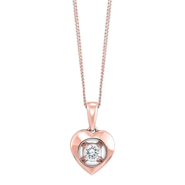 10k Rose Gold 0.08ctw Diamond Magnify Heart Pendant Robert Irwin Jewelers Memphis, TN
