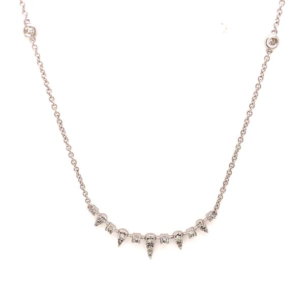 14k White Gold 0.30ctw Diamond Necklace Robert Irwin Jewelers Memphis, TN