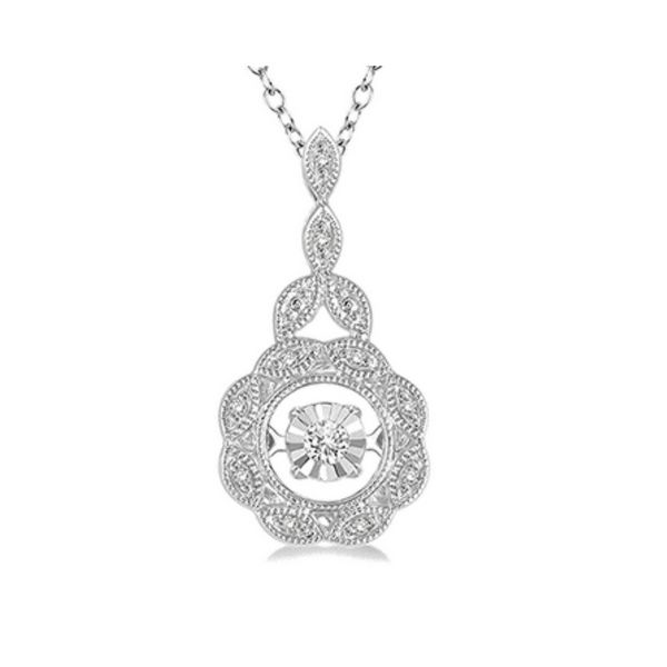 1/20 Ctw Diamond Emotion Pendant in Sterling Silver with Chain Robert Irwin Jewelers Memphis, TN
