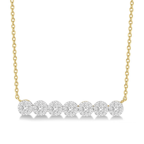 14 Karat Yellow Gold 1/2 Carat Lovebright Diamond Necklace Robert Irwin Jewelers Memphis, TN