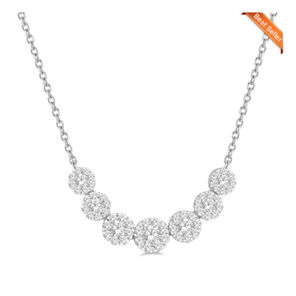 14k White Gold 3/4ctw Lovebright Diamond Necklace Robert Irwin Jewelers Memphis, TN