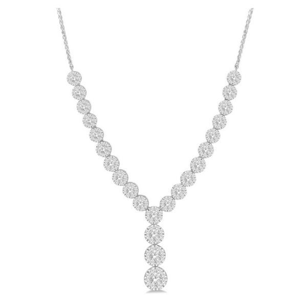 14k White Gold 2 1/4ctw Lovebright Round Cut Diamond Necklace Robert Irwin Jewelers Memphis, TN