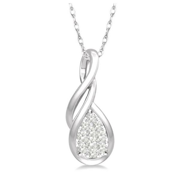 14 Karat White Gold 1/8 Carat Lovebright Diamond Pendant Robert Irwin Jewelers Memphis, TN