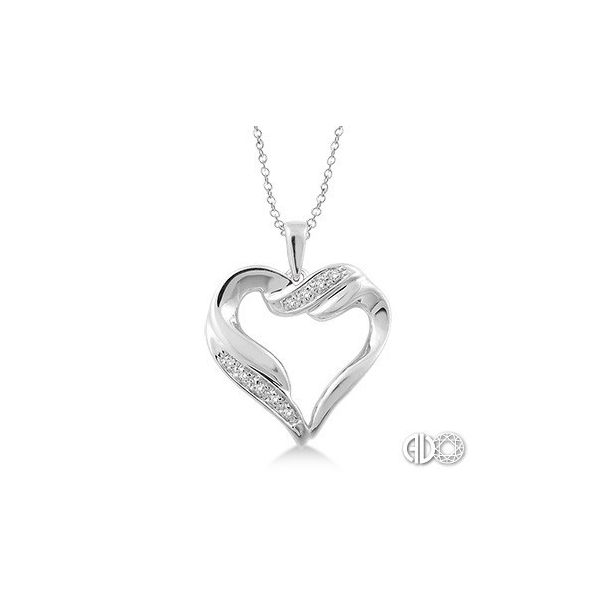 1/20 Ctw Single Cut Diamond Heart Pendant in Sterling Silver with Chain Robert Irwin Jewelers Memphis, TN