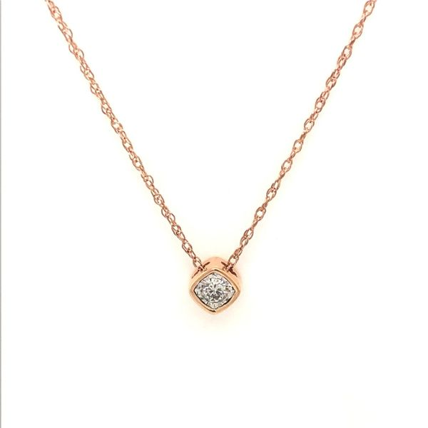 10k Rose Gold 0.11ctw Diamond Pendant Robert Irwin Jewelers Memphis, TN