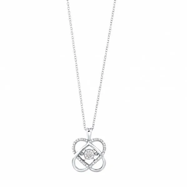 Sterling Silver 1/10 Carat Love's Crossing Diamond Pendant Robert Irwin Jewelers Memphis, TN