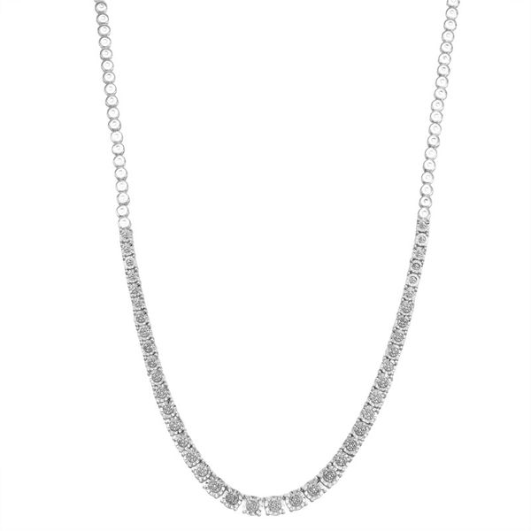 Sterling Silver 0.33ctw Diamond Necklace Robert Irwin Jewelers Memphis, TN