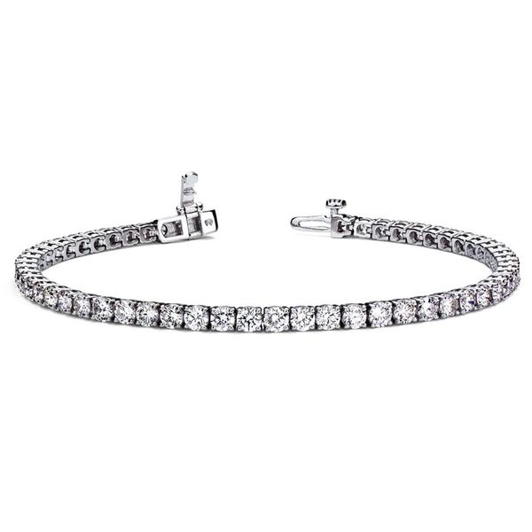 14k White Gold 5.00ctw Diamond Tennis Bracelet Robert Irwin Jewelers Memphis, TN