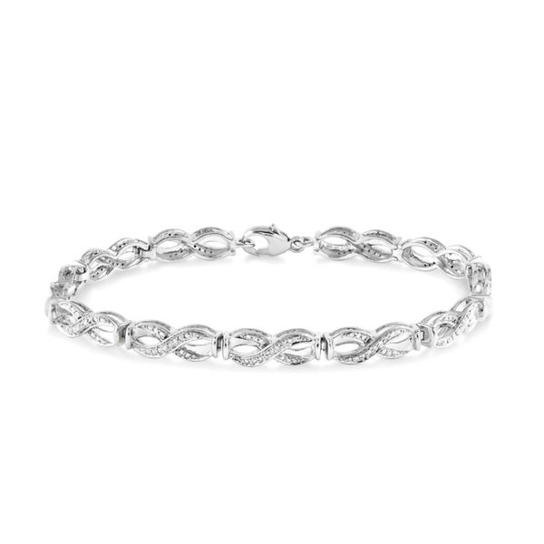 Sterling Silver 1/20ctw Diamond Tennis Bracelet Robert Irwin Jewelers Memphis, TN