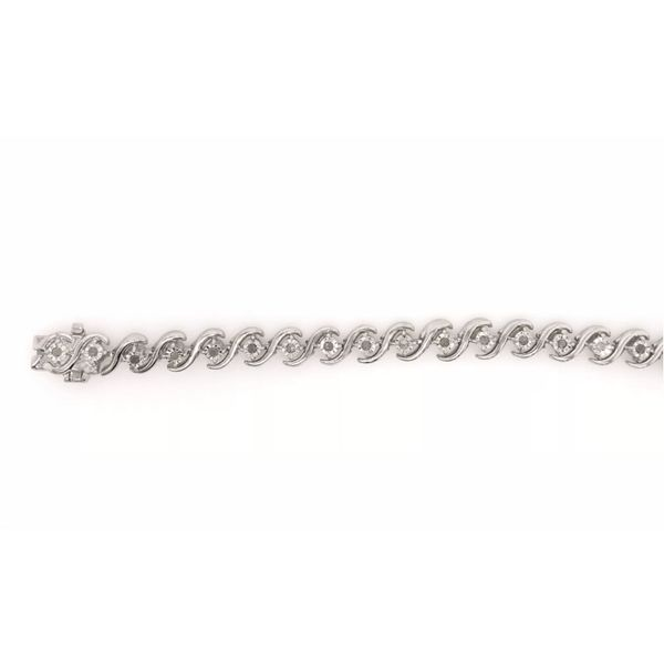 Sterling Silver .50ctw Diamond Tennis Bracelet Robert Irwin Jewelers Memphis, TN