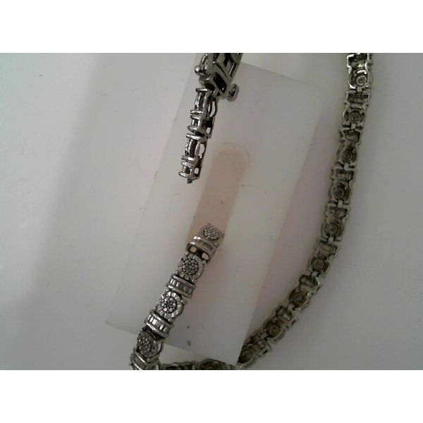 Sterling Silver 0.25ctw Diamond Tennis Bracelet Robert Irwin Jewelers Memphis, TN