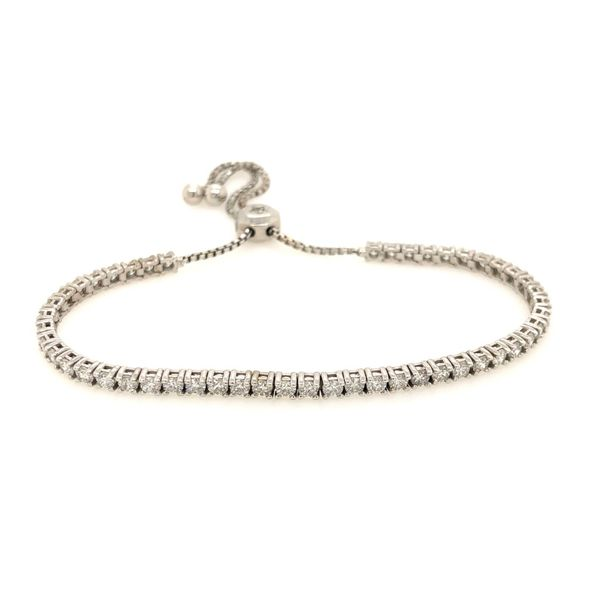 14k White Gold 2.50ctw Diamond Bolo Bracelet Robert Irwin Jewelers Memphis, TN