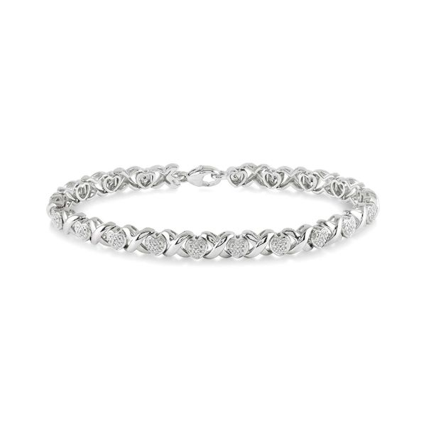 Sterling Silver 1/10ctw Diamond Heart Bracelet Robert Irwin Jewelers Memphis, TN