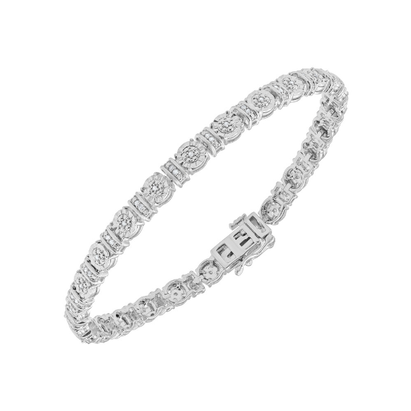 Sterling Silver 0.25ctw Diamond Bracelet Robert Irwin Jewelers Memphis, TN
